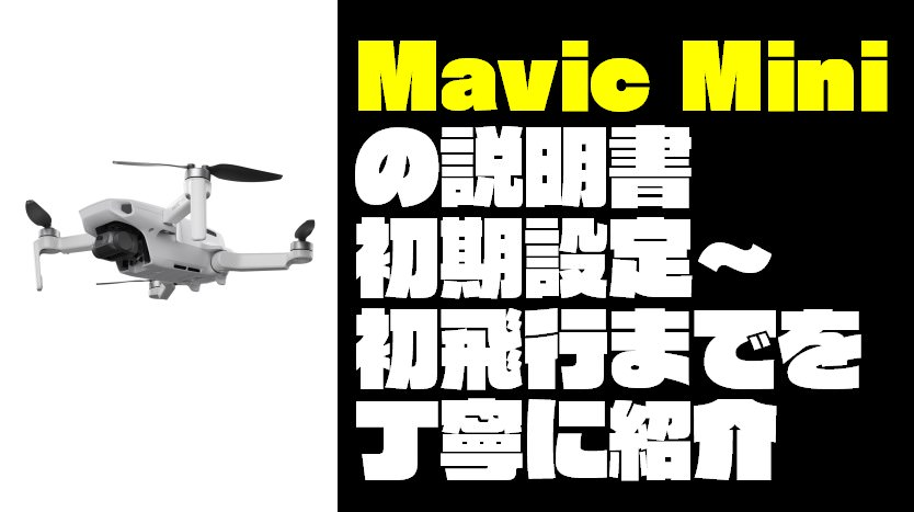 【日本一わかりやすい】Mavic Mini(マビックミニ)の使い方を丁寧に解説